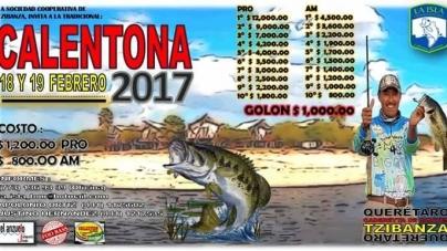 Torneo  Calentona 18 y 19 de Febrero en la Presa Zimapan