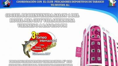 Tercer torneo internacional de pesca de Robalo en Villahermosa
