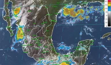 Tormentas intensas se prevén para el día de hoy al sureste del país