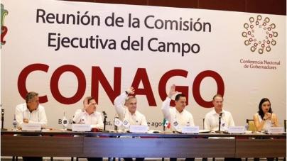 El gobernador de Sinaloa, Quirino Ordaz Coppel, es el nuevo coordinador de la Comisión de Campo y Pesca de la CONAGO