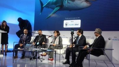 Presentan libro El gran tiburón blanco; protector de los océanos, del biólogo mexicano Mauricio Hoyos