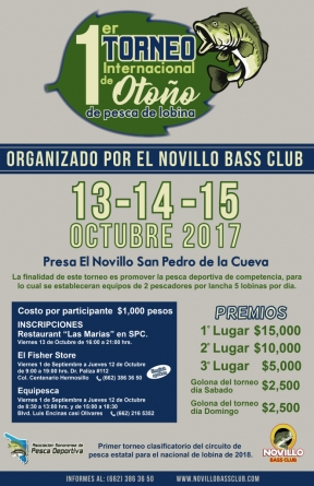 1er Torneo internacional de otoño de pesca de lobina
