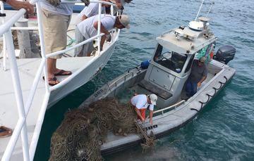 Impulsan estrategia para localizar y remover redes de pesca abandonadas en el Alto Golfo de California