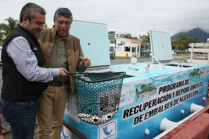 Repueblan de lobina la presa La Boca para favorecer la pesca deportiva