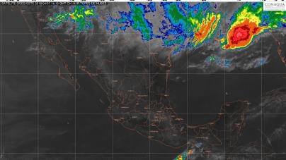 Tormentas fuertes en zonas de Oaxaca y Chiapas.