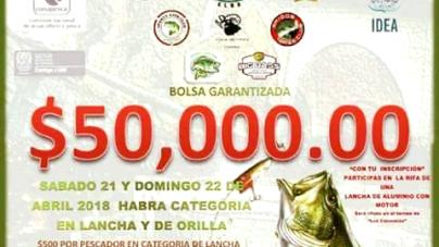 """Torneo de pesca deportiva de lobina """"Feria de San Marcos 2018"""""""