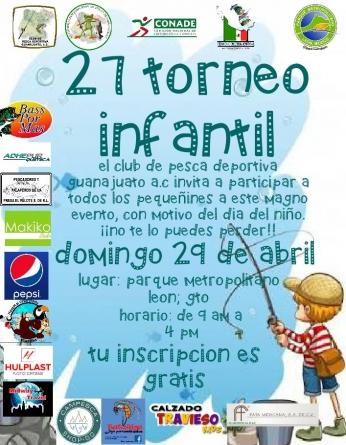 27 torneo infantil club de pesca deportiva Guanajuato