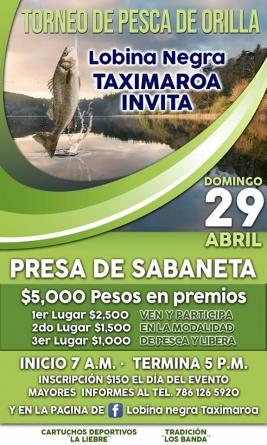 Torneo de pesca de orilla lobina negra Taximaroa