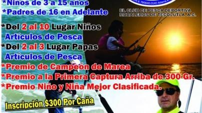Octavo gran torneo de pesca playero padre e hijo en Tocolutla
