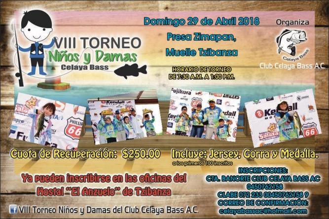 VIII torneo niños y damas Club Celaya Bass