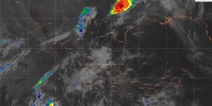 Lluvias fuertes con actividad eléctrica y granizo se prevén en el noreste, el centro y el sur de México