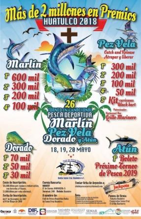 26 Torneo internacional pesca deportiva marlín, pez vela, dorado y atún 2018