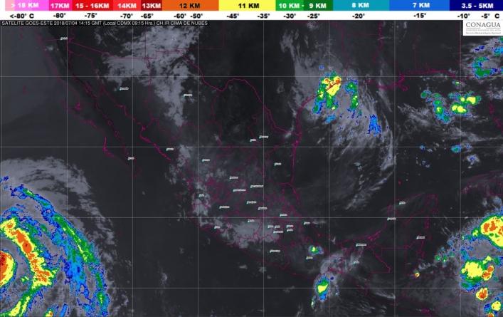 Para las próximas horas se pronostican tormentas muy fuertes en Jalisco
