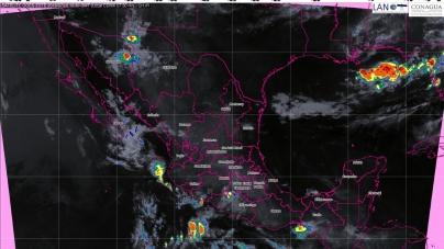Para las próximas horas se pronostican tormentas muy fuertes en Sonora, Sinaloa, Durango y Nayarit