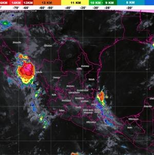 En Sinaloa, Chihuahua y Durango se prevén tormentas muy fuertes