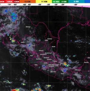 Se pronostican tormentas muy fuertes para Michoacán, Oaxaca, Chiapas, Veracruz y Campeche