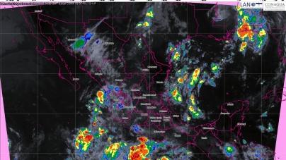 Hoy se pronostican tormentas intensas en Michoacán, Guerrero y Oaxaca
