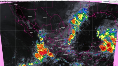 Se pronostican tormentas intensas para 10 entidades de México durante las próximas horas