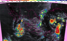 10 entidades de México tienen pronóstico de tormentas intensas, actividad eléctrica, vientos fuertes y granizo