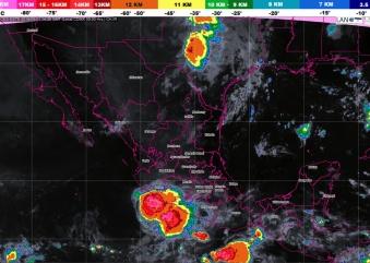 Hoy se prevén tormentas muy fuertes en Coahuila, Oaxaca, Puebla y Veracruz
