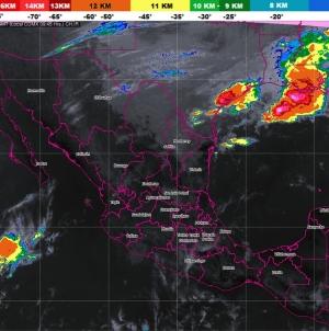 Prevén tormentas muy fuertes en Nuevo León, Tamaulipas y Veracruz, debido al Frente Frío Número 9