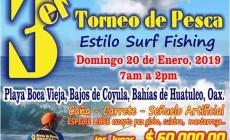Curricanes Huatulco: Tercer torneo de pesca estilo surf fishing