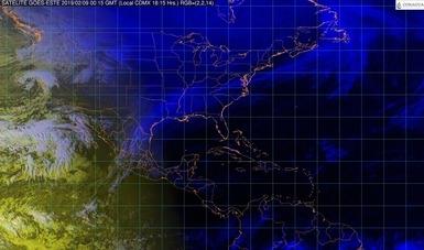 Para mañana se pronostica evento de Norte con rachas de viento mayores a 80 km/h en el Istmo y el Golfo de Tehuantepec, y superiores a 50 km/h en las costas de Tamaulipas y Veracruz