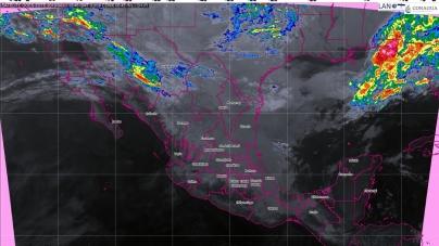 Tormentas puntuales fuertes con actividad eléctrica se prevén hoy en Tabasco y Chiapas