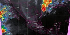 Se pronostican tormentas puntuales fuertes en Tamaulipas, Veracruz, Puebla, Oaxaca y Chiapas