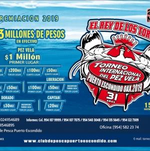 31 Torneo internacional de pez vela Puerto Escondido Oaxaca 2019
