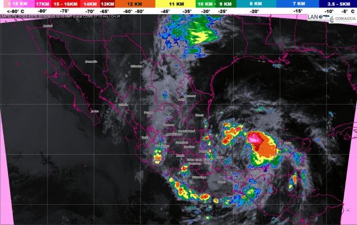 Se pronostican tormentas torrenciales en Guerrero, Veracruz y Oaxaca
