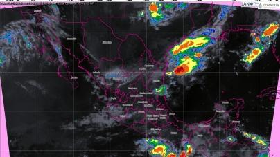 Hoy se prevén tormentas intensas en Michoacán, Tabasco y Chiapas
