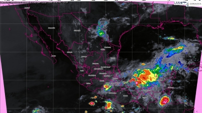 Tormentas muy fuertes se prevén hoy en Guerrero, Oaxaca, Chiapas, Veracruz y Puebla