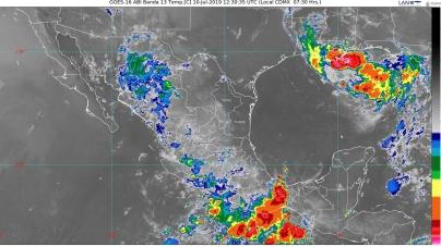 Lluvias muy fuertes se prevén en Michoacán, Morelos, Puebla, Guerrero, Oaxaca y Chiapas