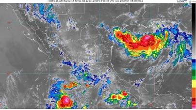En Oaxaca y Chiapas se prevén lluvias puntuales intensas con descargas eléctricas y posibles granizo