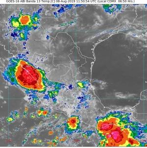 Para Sinaloa, Durango, Nayarit, Guerrero, Oaxaca y Chiapas se pronostican lluvias intensas