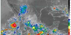 Durante las próximas horas se prevén lluvias muy fuertes en Jalisco, Colima, Michoacán, Guerrero, Oaxaca, Veracruz y Chiapas