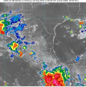 Ambiente muy caluroso con temperaturas superiores a 45 grados Celsius en zonas de Baja California, Sonora y Nuevo León