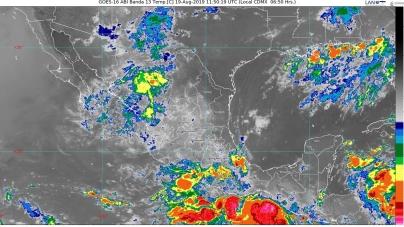 Se prevén lluvias puntuales torrenciales en Guerrero y Oaxaca e intensas en Veracruz y Chiapas