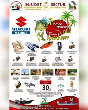 7mo. Torneo internacional de pesca de robalo Tepetitan 2019