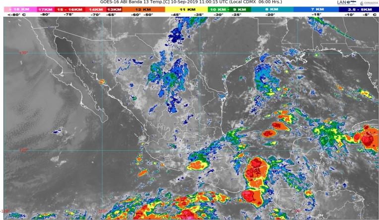 Se pronostican lluvias intensas en Chiapas