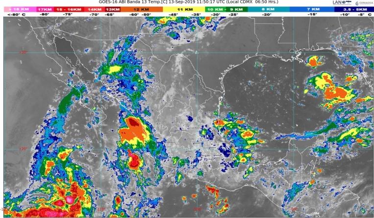 Hoy se pronostican lluvias intensas en Puebla, Veracruz, Tabasco, Campeche, Oaxaca y Chiapas