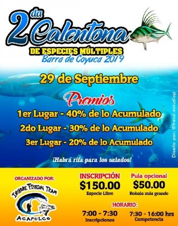 2da Calentona de especies múltiples Barra de Coyuca 2019