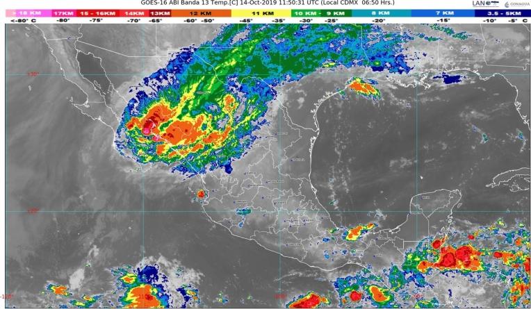 Lluvias intensas se pronostican en Sonora, Chihuahua y Chiapas