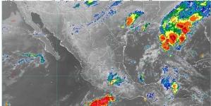 Se prevén lluvias muy fuertes en Oaxaca y Chiapas y fuertes en Michoacán, Guerrero, Estado de México, Puebla, Veracruz y Tabasco