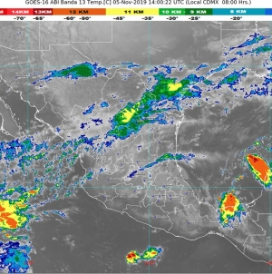 Hoy se prevén lluvias intensas en zonas de Veracruz y Oaxaca