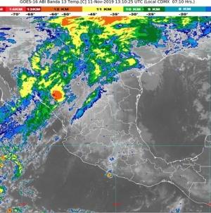 Se prevén lluvias intensas en el norte y la costa de Tamaulipas, la sierra norte de Puebla y la zona montañosa central de Veracruz