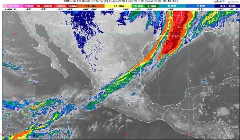 Se pronostica descenso de temperatura en el norte, el centro y el oriente de México