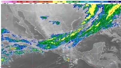 Lluvias fuertes con descargas eléctricas se estiman hoy en Hidalgo, Oaxaca, Puebla, San Luis Potosí, Tamaulipas y Veracruz