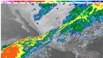 Se estiman lluvias muy fuertes en Campeche, Chiapas, Oaxaca, Puebla, Tabasco, Veracruz y Yucatán